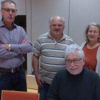 Stadträte Gerhard Schulzki, Günter Nicola, Barbara Nikola-Bier, vorne Dieter Söllner